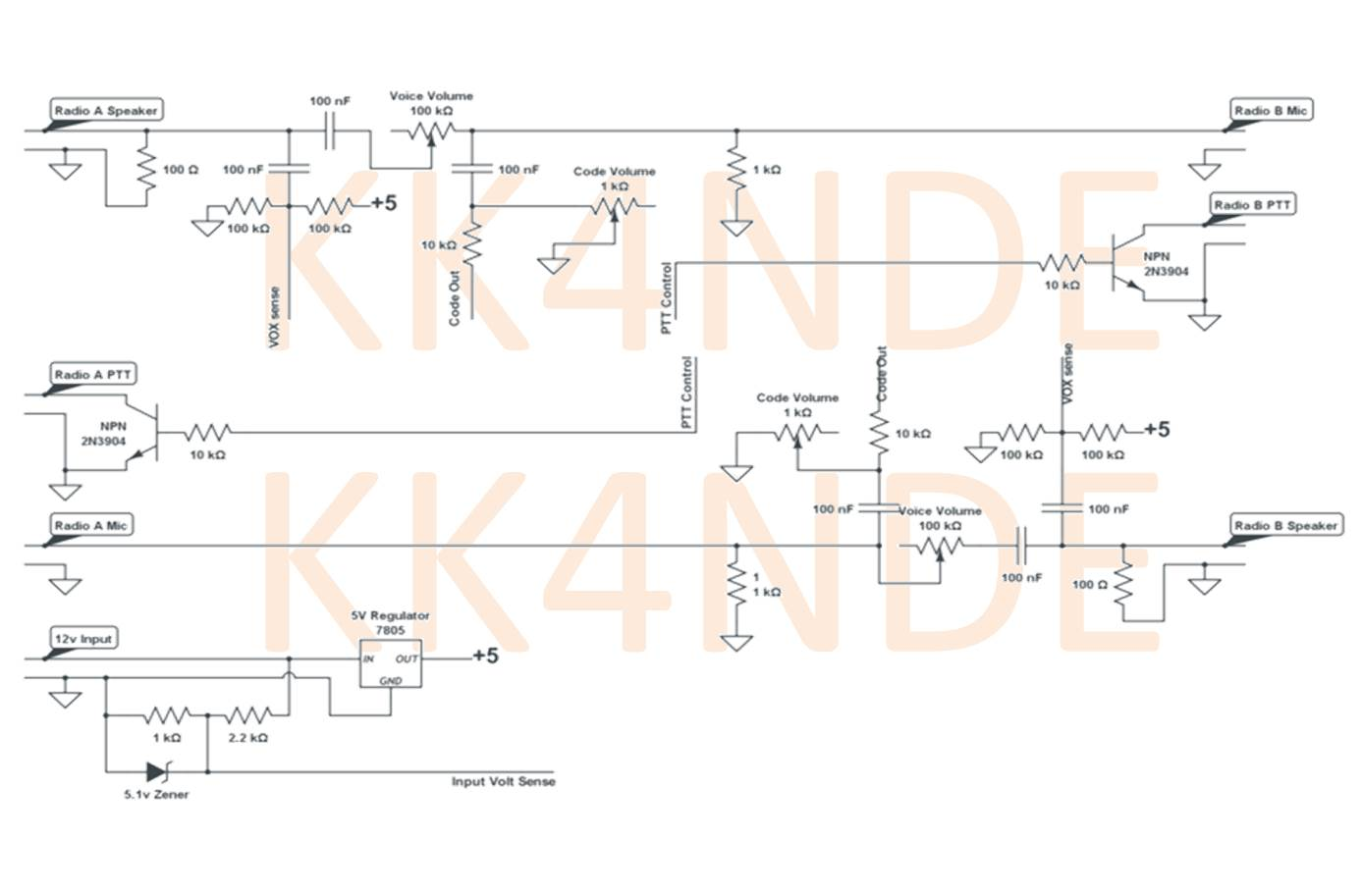 Arduino Repeater Controller Simplex Wiring Diagram This Is The Schematic I Used To Connect Attiny Radios Left Right Connections Document Where Are Connected